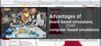 Advantages of board-based simulations over computer-based simulations
